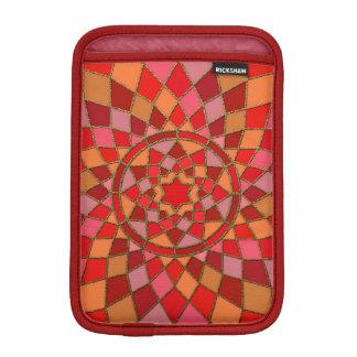 red crimson pink Red Pinata Mandala iPad Mini Sleeve