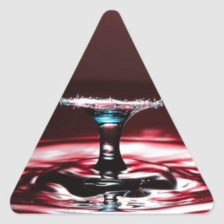Red Crimson Water Droplet Splash Triangle Sticker