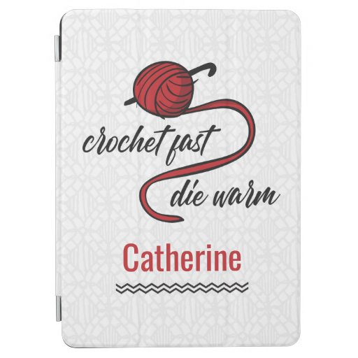 Red Crochet Fast, Die Warm iPad Air Cover
