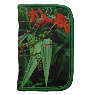 Red Crocosmia Floral Design Folio Planners