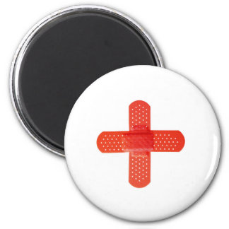 Red cross 2 inch round magnet