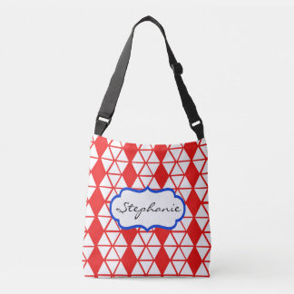 Red Cross Body Tote Bag for Her