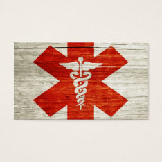 Red Cross Business Card at Zazzle