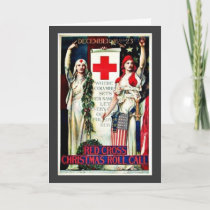 Red Cross Christmas Holiday Card