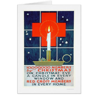 Red Cross Christmas Recruiting Poster (US00206) Card