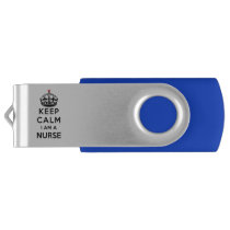 red cross crown Keep Calm I am a Nurse USB Flash Drive