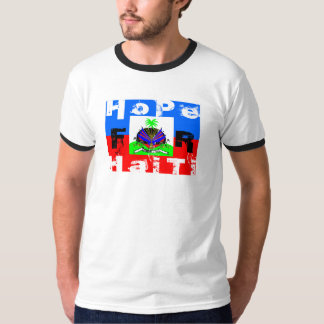 [ RED CROSS DONATION ] HAITIAN FLAG Vintage Ringer T-Shirt