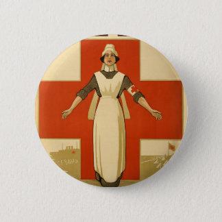 Red Cross Field Nurse Poster Reading HELP Button
