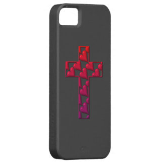Red Cross filled with hearts iPhone 5 Covers