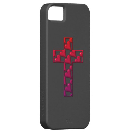 Red Cross filled with hearts iPhone SE/5/5s Case