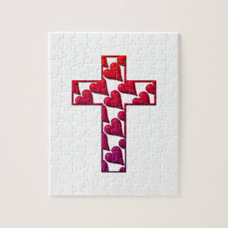 Red Cross filled with hearts Jigsaw Puzzle