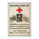 Red Cross First Aid Posters