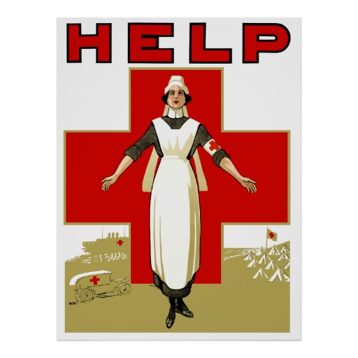 Red Cross -- Help Poster