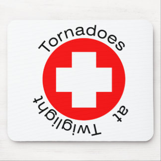 RED CROSS HERE MOUSEPADS