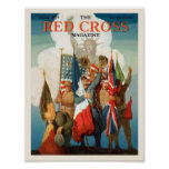 Red Cross Magazine Features WWI Soldiers Posters
