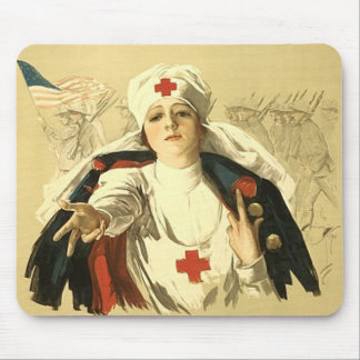 Red Cross Mouse Pad