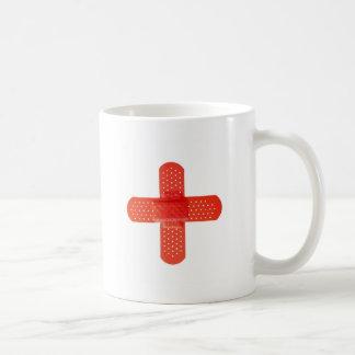 Red cross classic white coffee mug