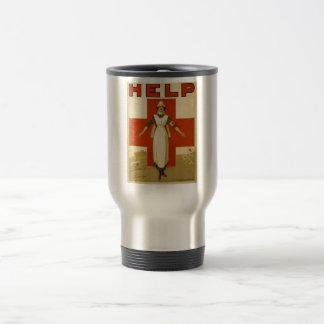 Red Cross Nurse Help Advertisement World War 2 Travel Mug