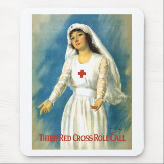 Red Cross Nurse Mouse Pad
