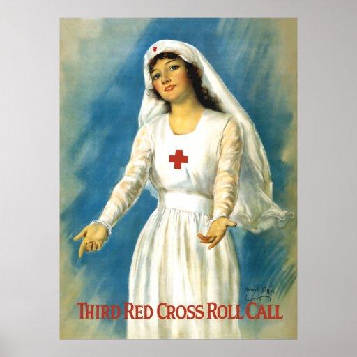 Red Cross Nurse Poster