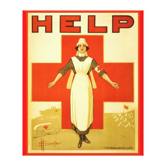 Red Cross Nurse World War 1 Poster Wrapped Canvas