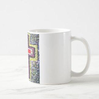 Red Cross on mixed background. Coffee Mug
