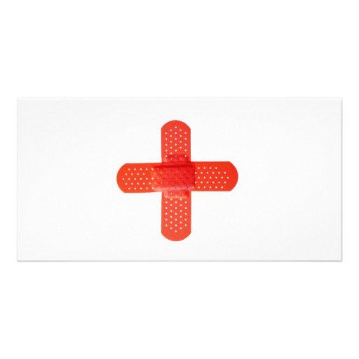 Red cross photo card