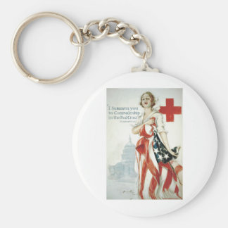 Red Cross Poster - I Summon You! Keychain