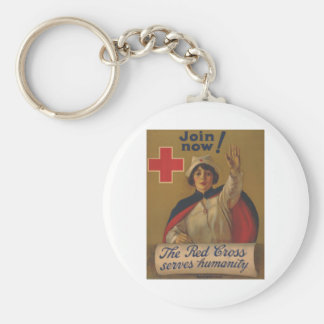 Red Cross Poster - Join Now! Keychain