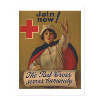 Red Cross Poster - Join Now! Postcard