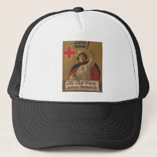 Red Cross Poster - Join Now! Trucker Hat