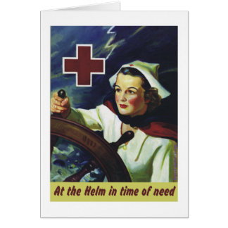 Red Cross Poster - Nurse at the Helm Card