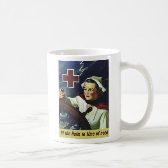 Red Cross Poster - Nurse at the Helm Coffee Mug