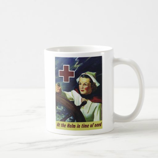 Red Cross Poster - Nurse at the Helm Coffee Mugs