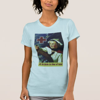 Red Cross Poster - Nurse at the Helm T Shirt