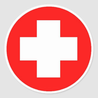 Red Cross Products & Designs! Classic Round Sticker