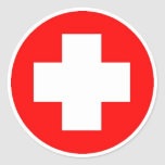 Red Cross Products & Designs! Sticker