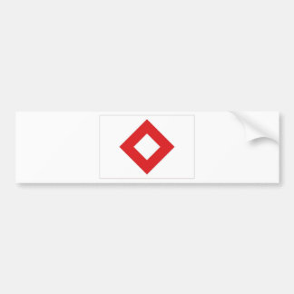 Red Cross Red Crystal Flag Bumper Sticker