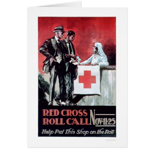Red Cross Roll Call (US00203) Greeting Card