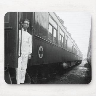 Red Cross Sanitary Railroad Car, 1917 Mouse Pad