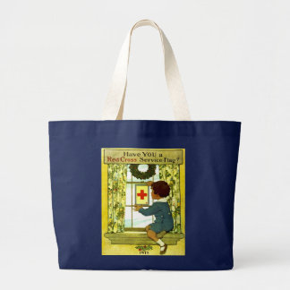 Red Cross Service Flag Tote Bag