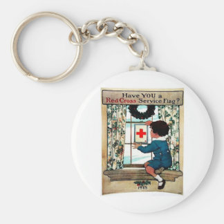 Red Cross Serviceflag Keychain