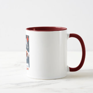 Red Cross-Volunteer for Victory Ringer Mug