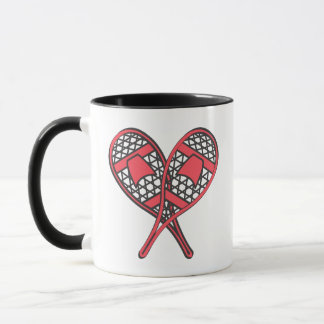 Red Crossed Snowshoes Mug