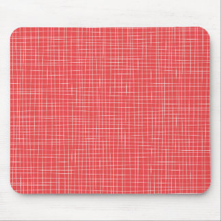 Red Crosshatch Mouse Pad