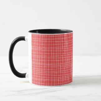 Red Crosshatch Mug