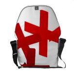 Red Crossroads Messenger Bags