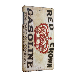 Red Crown Gasoline Sign iPad Case