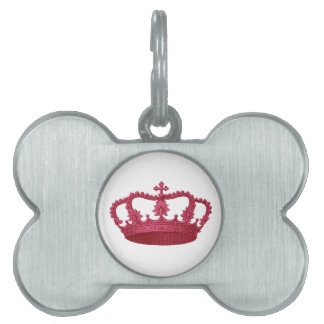 RED Crown Gift Item You Personalize Pet ID Tag