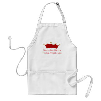 Red Crown Queen of the Kitchen Apron